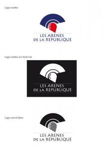 Ce logo n'est pas sans rappeler d'emblée le symbole des arènes romaines avec le casque aux couleurs du drapeau Français... Mais on y voit aussi une bulle de prise de parole (bulle rouge) qui rappelle la volonté d'exprimer une idée, une pensée, une opinion, de faire entendre un point de vue. L'arène est représentée non dans son intégralité par les courbes bleues.