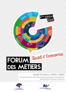 Affiche Forum des Métiers du Droit et de l'Economie 2015 - Les Arenes de la République