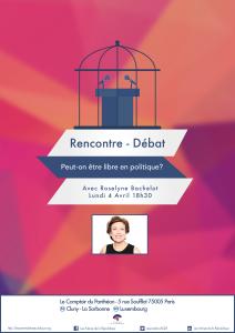 Affiche rencontre debat R Bachelot 4 avril 2016